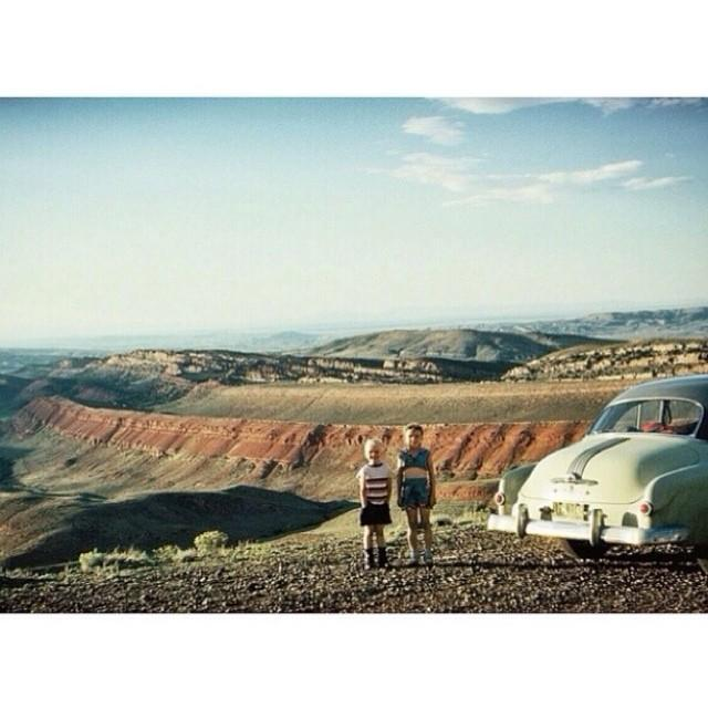 Memories Made from Family Road trips, Preserved in a Vintage Photograph