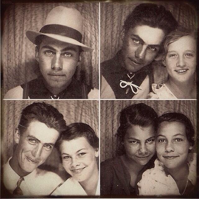 An Early Selfie, taken by my Grandpa and His Friends in a Photo Booth