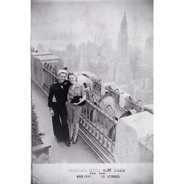 A Stunning Vintage Photograph from my Grandparents' New York City Honeymoon
