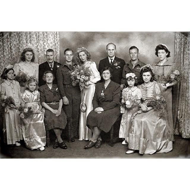 A World War II Tale Told in my Nana and Grandad's Wedding Portrait