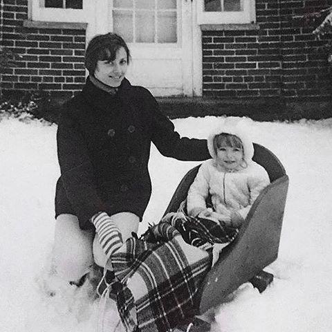 A Vintage Snapshot of Family Memories in a Winter Wonderland