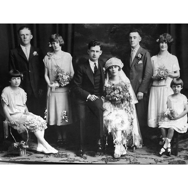 My Favorite Wedding Photo is a Vintage Family Portrait from 1925