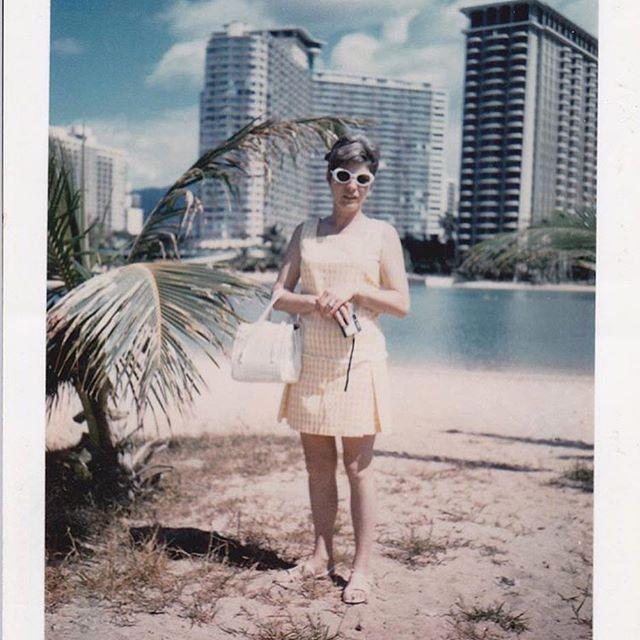 My Mod Mother, Pictured in the Hawaiian Islands in the early 1970s