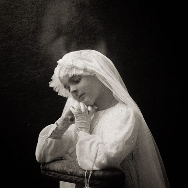 A Rare Vintage Portrait of a First Communion Conveys an Angelic Mood